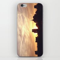 nashville iPhone & iPod Skins featuring Nashville Skyline by  Dreambox Designs