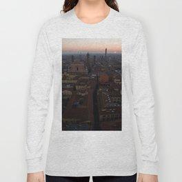 Bologna sunrise city aerial drone italy Long Sleeve T-shirt
