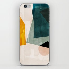 mid century shapes abstract painting 3 iPhone Skin