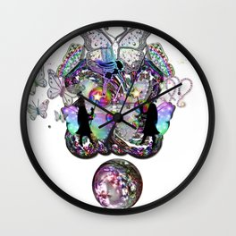 Allure Of Wings of Rainbow Wall Clock