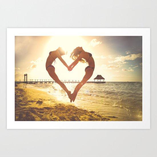 heart beach holiday 5 Art Print