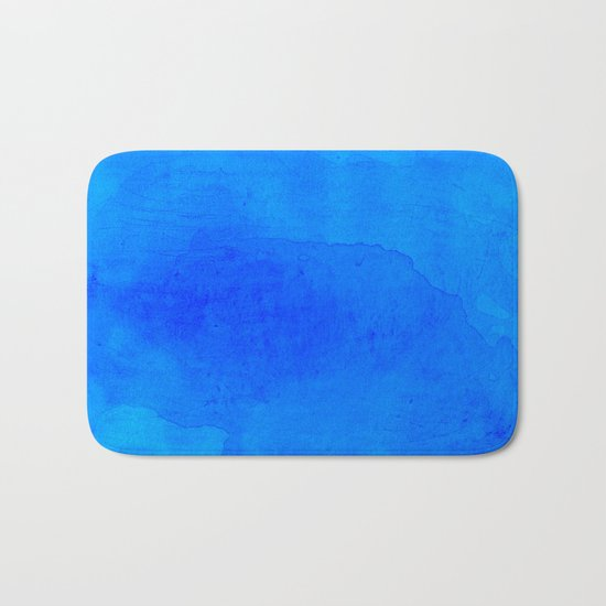 DARK BLUE WATERCOLOR BACKGROUND  Bath Mat