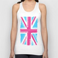 union jack Tank Tops featuring Union Jack Fashion by Berberism