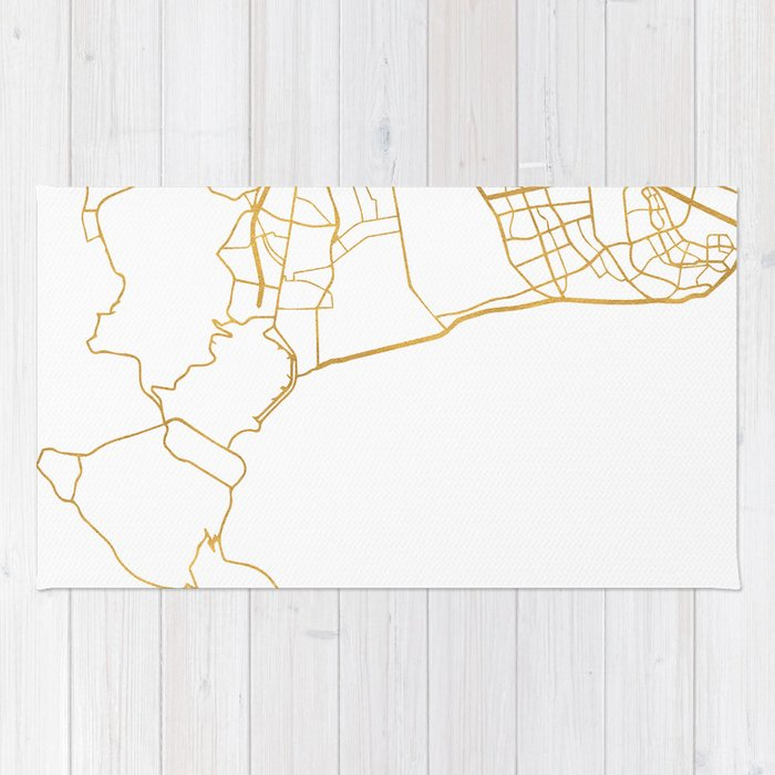CAPE TOWN SOUTH AFRICA CITY STREET MAP ART Rug by deificusart | Society6