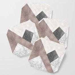 Rose grunge - mountains Coaster