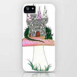 Tiny Kingdom with Green Sleeping Dragon iPhone Case