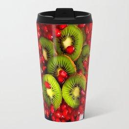 Kiwi and Pomegranate Seeds Travel Mug