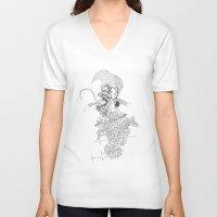 punk rock V-neck T-shirts featuring traditional punk rock amoeba by Lanny Quarles
