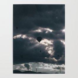 Albuquerque Balloon Fiesta Sunrise Silhouette Poster