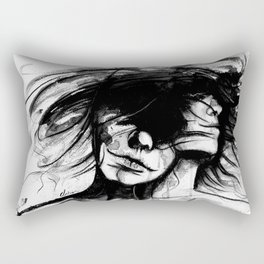 """""""Time is like the wind, it lifts the light and leaves the heavy"""" Rectangular Pillow"""