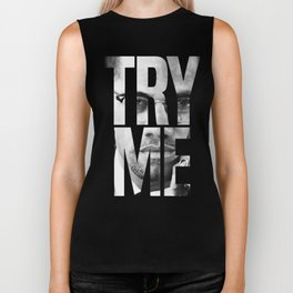 Malcolm X Try Me Graphic Quotes Biker Tank