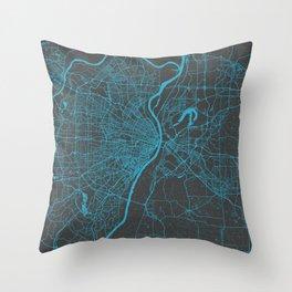 Saint Louis Map Throw Pillow