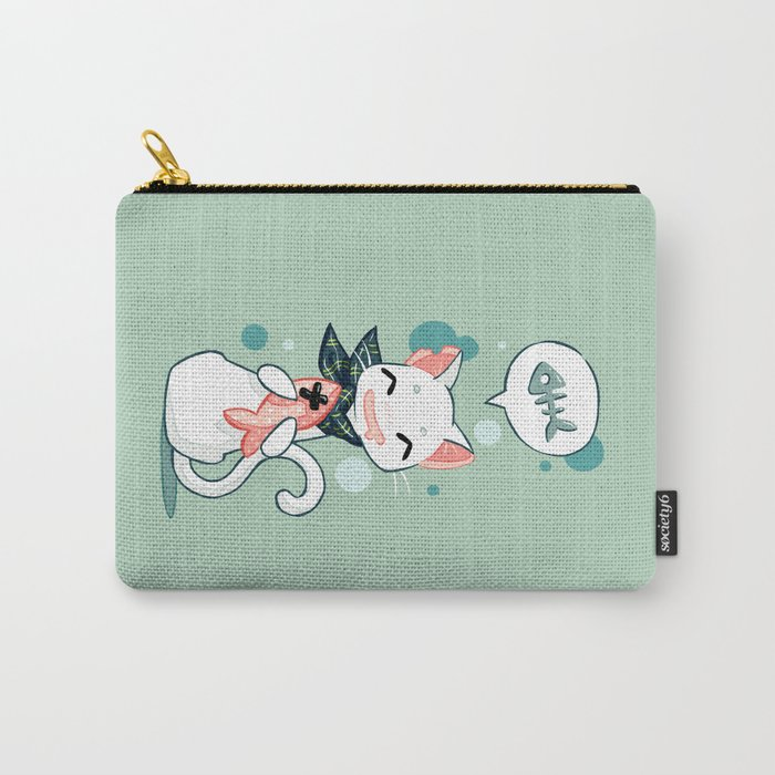 Cat and Fish 2 Carry-All Pouch