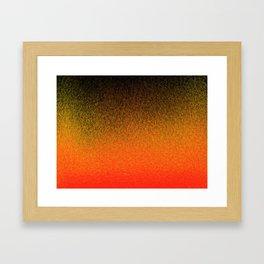 Sunset Dashes Framed Art Print