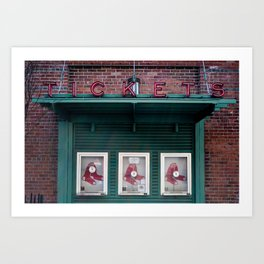 Tickets, Boston Art Print