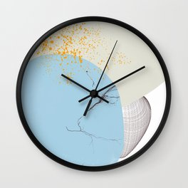 Rooted 11 Mid-Century Monoprint Wall Clock