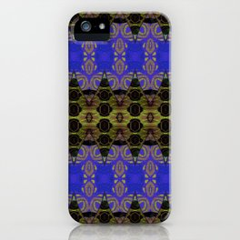 Ultra Lapis Blue Resonant Harmonic Boujee Boho Rococo Geometric iPhone Case