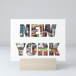 New York (typography) Mini Art Print