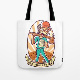 Drunkard Baseball PLAYER - Cinnabar RED Tote Bag