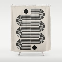 Geometric Mid Century Art Shower Curtain