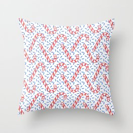Memphis Christmas Sweets Throw Pillow