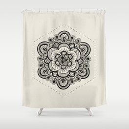 Floral Lace V Shower Curtain