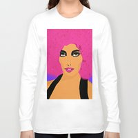 woman Long Sleeve T-shirts featuring Woman  by Saundra Myles
