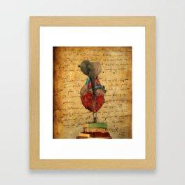 Elephant Heart  Framed Art Print