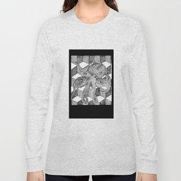Floating Octopus design as mini camera film Long Sleeve T-shirt