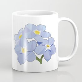 Forget Me Nots Low Poly Coffee Mug
