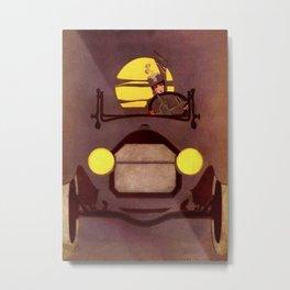 "Coles Phillip's 'Fadeaway Girl' Illustration  ""The Roadster"" Metal Print"