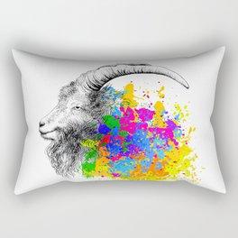 Mountain Goat, Ram portrait Rectangular Pillow