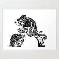 Chameleons Art Print