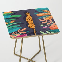 Cheetah walking in the wild Side Table
