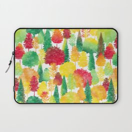 Watercolor Autumn Forest Pattern Laptop Sleeve