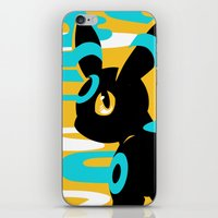 umbreon iPhone & iPod Skins featuring #197 - Umbreon (shiny ver.) by Solis