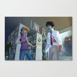 Unlife: Bloody Library Canvas Print