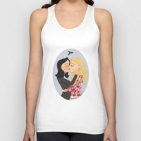swan queen Tank Tops featuring Christmas with Swan Queen!  by Yael's Colors