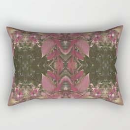 Red Shiso Warm Tones Pattern Rectangular Pillow