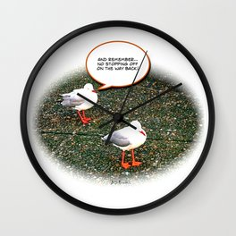 """And remember.."" Poster Wall Clock"
