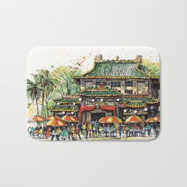 Chinese Temple on Waterloo Street, Singapore Bath Mat