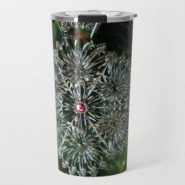 Snowcrystal Ornament 2016- horizontal Travel Mug