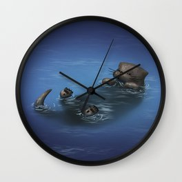 Otterly Relaxed Wall Clock