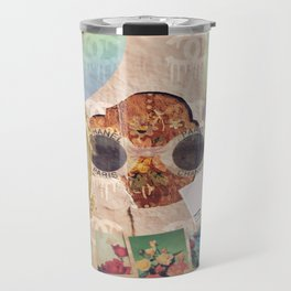 Designer Vintage Fashion Collage Travel Mug
