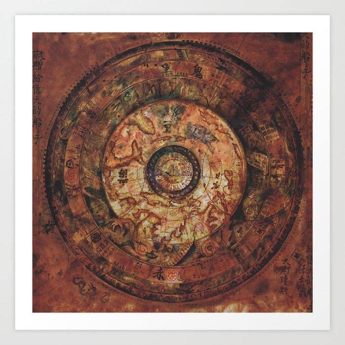 Sao Feng Replica Map Pirates of the Caribbean Kunstdrucke