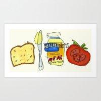 Harriet the Spy Sandwich Art Print