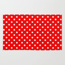 Girls just wanna have dots - red/white Rug