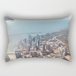 Miami Skyline Rectangular Pillow