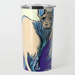 Sphynx Cat - Blue Purple Vanilla - Cat Lover Travel Mug