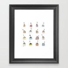 les petites maisons douillettes Framed Art Print